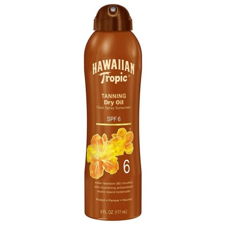 Hawaiian Tropic Golden Tanning Dry Oil SPF 6 6 oz [075486087524]