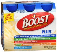 BOOST PLUS Nutritional Energy Drinks Vanilla 48 oz [041679931660]