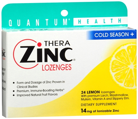 Quantum Thera Zinc Cold Season+ Lozenges Lemon 24 Each [046985016025]