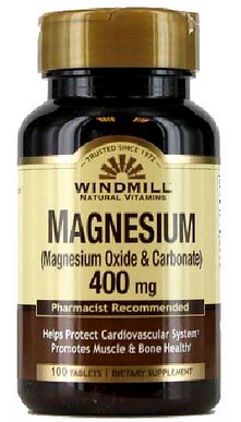 Windmill Magnesium Oxide 400 mg Tablets 100 ea [035046003234]