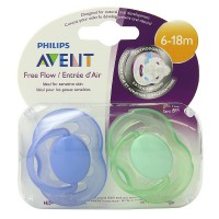 Philips Avent BPA Free Freeflow Pacifier, 6-18 Months 2 ea [075020006547]