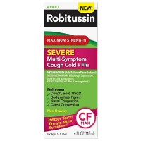 Robitussin Maximum Strength Severe Multi-Symptom Cough Cold+Flu Medicine 4 oz [300318751121]