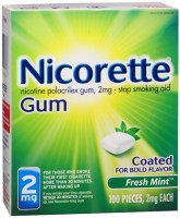 Nicorette 2 mg Fresh Mint 100 Each [307667847307]