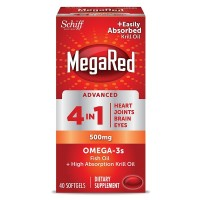 Schiff Megared Advanced 4 in1 500 Mg Omega 3 Supplement 40 ea [020525981615]
