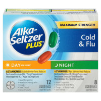 Alka-Seltzer Plus Day & Night Cold Formulas Liquid Gels, 20 ea [016500555315]