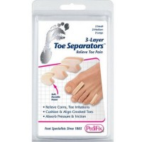 PediFix 3-Layer Toe Separators Small, Medium, Large 6 Each [092437157334]