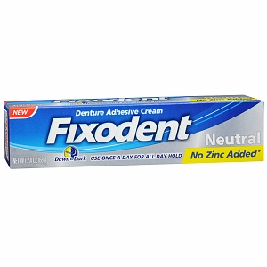 Fixodent Denture Adhesive Cream Neutral 2.4 oz [037000822356]