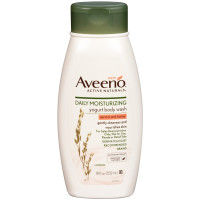 AVEENO Active Naturals Daily Moisturizing Yogurt Body Wash, Apricot & Honey 18 oz [381371169320]