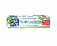 Kiss My Face Triple Action Fluoride-Free Toothpaste Gel with Xylitol, Cool Mint 4.50 oz [028367842347]