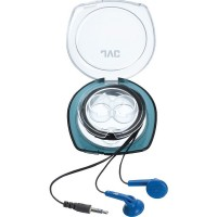 JVC Headphones Ear Bud with Carrying Case, Blue 1 ea [046838040481]