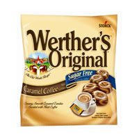 Werthers Original Sugar Free Caramel Coffee Hard Candy 12 pack (2.75oz per pack)  [072799763527]