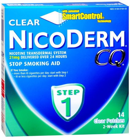NicoDerm CQ Clear Patches Step 1 14 Each [307661420209]