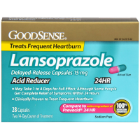 Good Sense Acid Reducer Lansoprazole Delayed Release Capsules 15 mg 28 ea [301130117027]