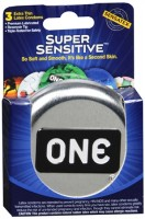 ONE Super Sensitive Lubricated Latex Condoms 3 Each [726893116030]