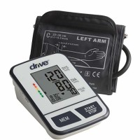 Drive Medical Automatic Deluxe Blood Pressure Monitor, White, Upper Arm - 1 ea [822383584249]