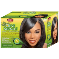 African Pride Olive Miracle Deep Conditioning Anti-Breakage No Lye Relaxer, Regular 1 ea [802535410053]