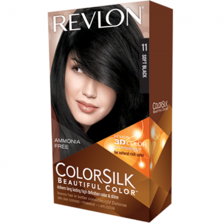 Revlon ColorSilk Beautiful Color, Soft Black [11] 1 ea [309978695110]
