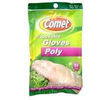 Comet  Disposable Gloves, Poly, One Size Fits All 50 ea [071582001938]
