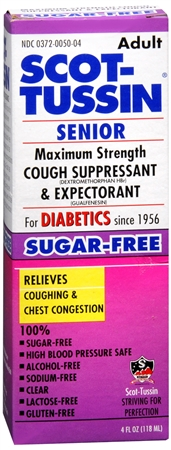 Scot-Tussin Senior Cough Suppresant & Expectorant Maximum Strength 4 oz [315187050046]
