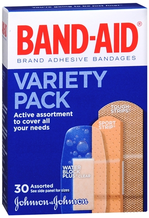 BAND-AID Variety Pack 30 Each [381370048480]