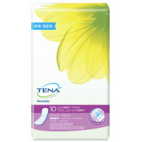 Tena Incontinence Pads for Women, InstaDRY Heavy, Long, 10 ea [768702541718]