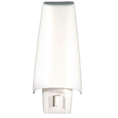 GE White Shade Night Light 1 ea [043180638311]