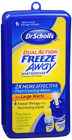 "A frequently-used (but expensive) method to treat warts involves something called ""cryotherapy."" This is a fancy word for ""freezing"" and can be done with products like Dr. Scholls Freeze Away."