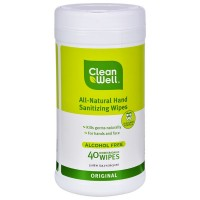 CleanWell Hand Sanitizer Wipes  40 ea [893481001723]