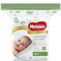 HUGGIES Natural Care Fragrance-Free Wipes 184 ea [036000318166]