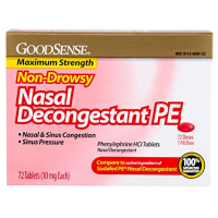 Good Sense Nasal Decongestant Phenylephrine HCl 10 mg Tablets 72 ea [370030147403]
