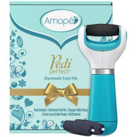 Amope Pedi Perfect Electronic Foot File Value Set - 1 Amope beauty gadget with rollerhead, 2 Amope refills, and batteries included 1 ea [051400932033]