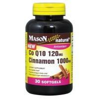 Mason Natural COQ-10 120 mg Cinnamon 1000 mg Softgels 30 ea [311845172082]