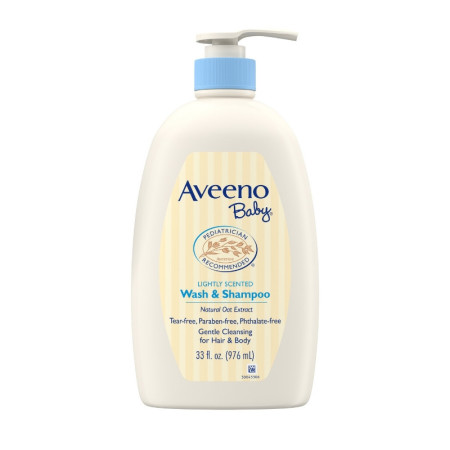 AVEENO Baby Gentle Wash & Shampoo with Natural Oat Extract, Tear-Free &, Lightly Scented, 33 oz [381371184163]