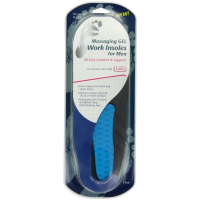 PediFix Massaging Gel Work Insoles For Men, Size 8-13 1 ea [092437185016]
