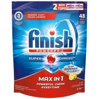 Finish Max in 1 Powerball, Super Charged Automatic Dishwasher Detergent Tablets, Lemon Scent 48 ea [051700959860]