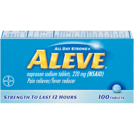 Aleve Pain Reliever/Fever Reducer Tablets, 100 ea [325866105059]