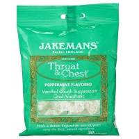 Jakemans Throat & Chest Lozenges, Peppermint 30 ea [811721020013]