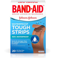BAND-AID Waterproof Tough-Strips Bandages 20 ea [381370048336]