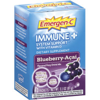 Emergen-C Immune+ System Support Fizzy Drink Mix, Blueberry-Acai Flavored 10 ea [885898000062]