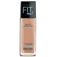 Maybelline Fit Me Matte + Poreless Liquid Foundation Makeup, Light Honey Shade, 1 oz [041554538700]