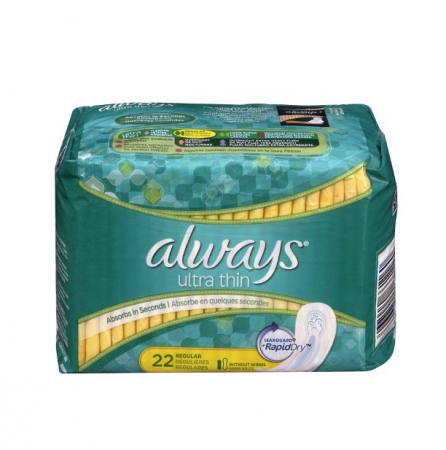 Always Ultra Thin Pads Regular 22 Each [037000661160]