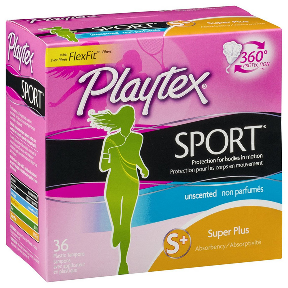 Playtex Sport Super Plus Absorbency Plastic Tampons
