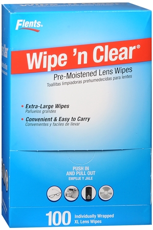 Flents Wipe 'N Clear Premoistened Tissues #F414-210 100 Each [023185142105]