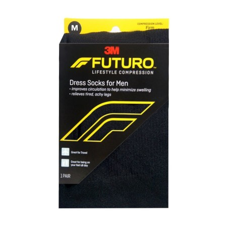 FUTURO Restoring Dress Socks For Men Firm Medium Black 1 Pair [051131215771]