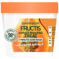 Garnier Fructis Damage Repairing Treat 1 Minute Hair Mask + Papaya Extract 3.4 oz [603084542338]
