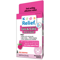 Homeolab USA Kids Relief Colic Drops, Ages 0-9, Raspberry 0.85 oz [778159090653]