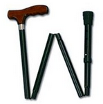 Carex Adjustable Folding Cane, Black [A773-00] 1 ea [023601007735]