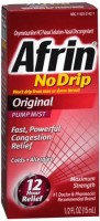 Afrin No Drip Original Nasal Decongestant Pump Mist 15 mL [300853142019]