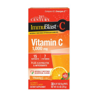 21st Century Immublast Vitamin C Effervescent Drink Mix Packets, Orange Flavor,  30 ea [740985278437]