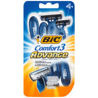Bic Comfort 3 Advance Shaver, Disposable 4 ea [070330713970]